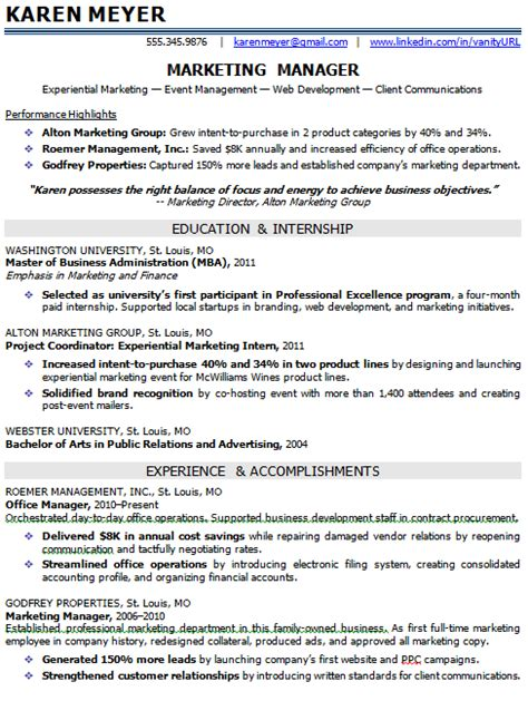 Resume Summary Exles Entry Level Marketing Entry Level Marketing And Sales Resume