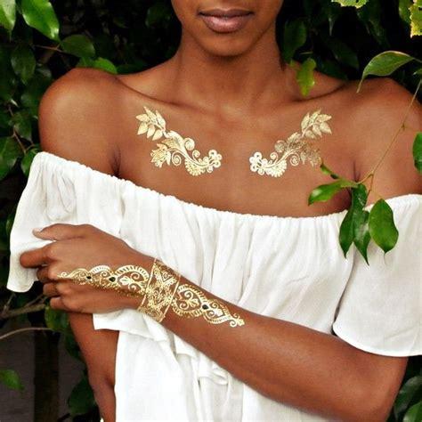 gold silver metallic jewelry flash tattoos tats tat 81 mesmerizing glossy metallic ink tattoo designs