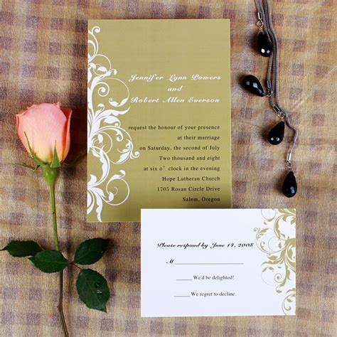 cheap vintage wedding invites vintage white and brown damask fall wedding invitations