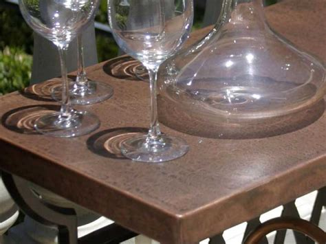 Copper Patio Table Ow Hammered Copper 42 Table Top Owcp42