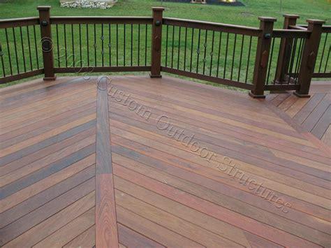 wood pattern deck custom made decks using cedar composite materials