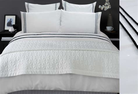 white comforter with black trim luxton s laura trim quilt cover set with striped european