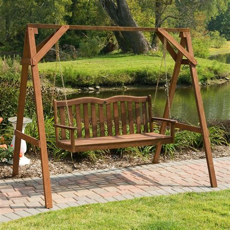 wooden a frame for swing jordan manufacturing prescott a frame porch swing stand at