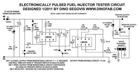 Transistor N20 probador electr 243 nico de inyectores de combustible