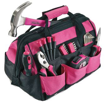Not So Pink Tool Kit by Pink 12in Tool Set New For 2014 Multi Purpose Pink Tool
