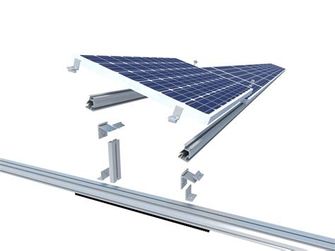 Solar Mounting Rack by Sunrail Universal Solar Mounting System For Flat Roof