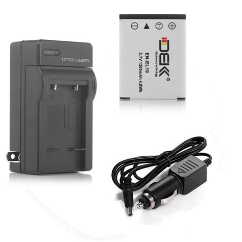 Battery Fuji Np 80 3 7v 1300mah 1300mah en el10 battery charger for nikon coolpix s60