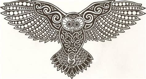 celtic owl tattoo design american folkloric witchcraft february 2012