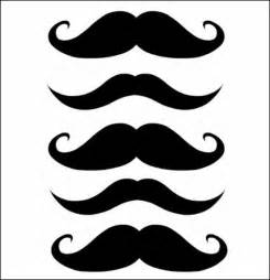 Mustache Print Out Template by Mustache Printables Pizza