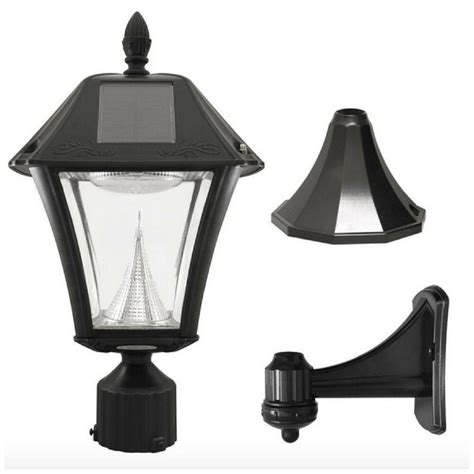 Solar Garden L Post Lights by Solar Led Black Outdoor Post Pole Wall Mount Light