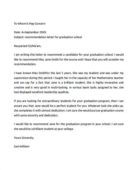 College Letter Recommendation Template Writing A College Recommendation For A Student