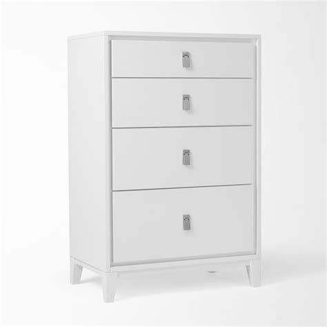 White 4 Drawer Dresser by Niche 4 Drawer Dresser White West Elm