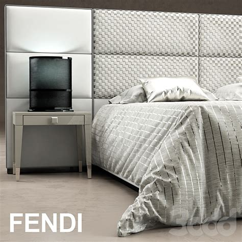 fendi casa bedroom 3d модели кровати кровать regent bed fendi casa 床