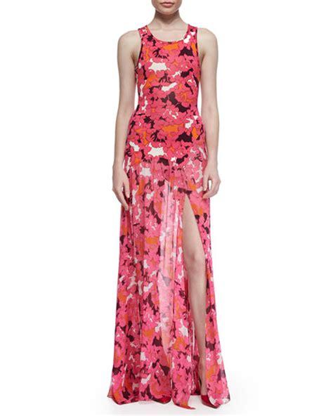 diane furstenberg davina floral print maxi dress