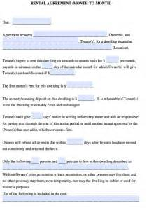 Monthly Car Rental Agreement Template Free Ohio Month To Month Rental Agreement Pdf Template