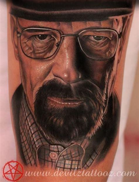 walter white tattoo heisenberg breaking bad walter white by lokesh