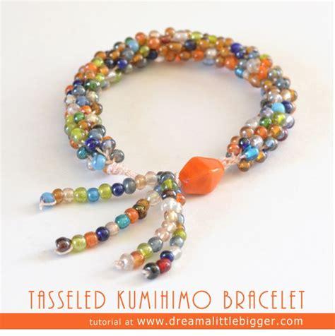 Tasseled Beaded Bracelet tasseled kumihimo braid tutorial make it live it