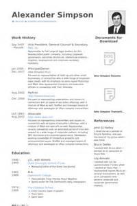 general counsel resume sles visualcv resume sles