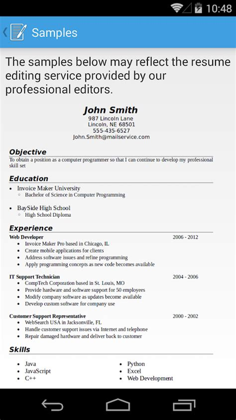 resume builder pro resume builder pro android apps on play