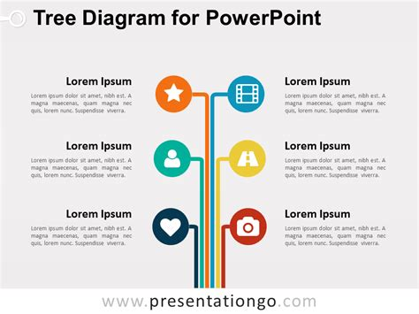 tree diagram template powerpoint tree tree diagram for powerpoint presentationgo