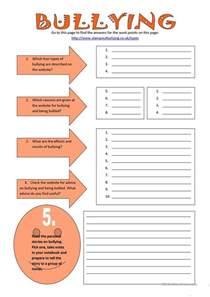 bullying worksheet free esl printable worksheets made by