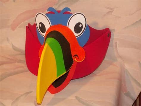 mascaras del tucan imagenes de patron de gorras en foami de animales amagui