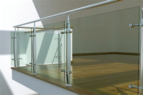 glass landing banister stainless steel glass stair landing balustrade stairs