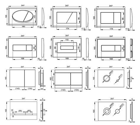 Bidet Zeichnung by Wc Vorwandelement A101 120 100 85cm Sp 252 Lkasten Wand Wc