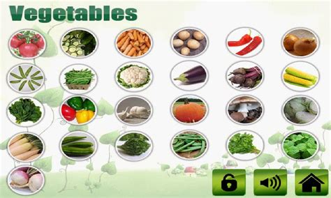 vegetables that start with b fruit veg shape color for apps para android no