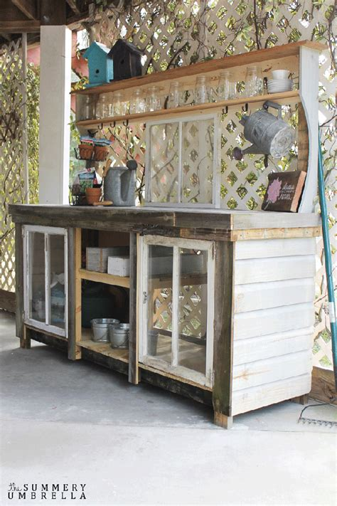how to make a potting bench reclaimed window potting bench a piece of rainbow