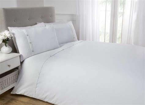White Cotton Bedding Sets White Duvet Cover Bedding Bed Set 100 Cotton Waffle Cuff Ebay