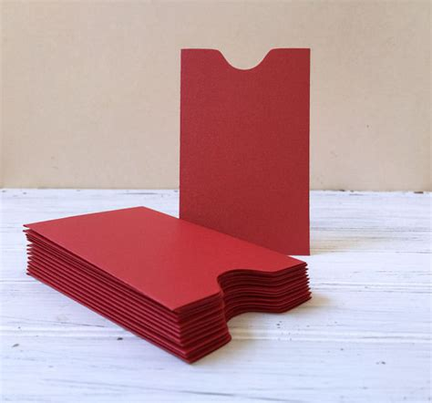 Small Envelopes For Gift Cards - 25 red mini envelopes gift card holder red envelopes credit