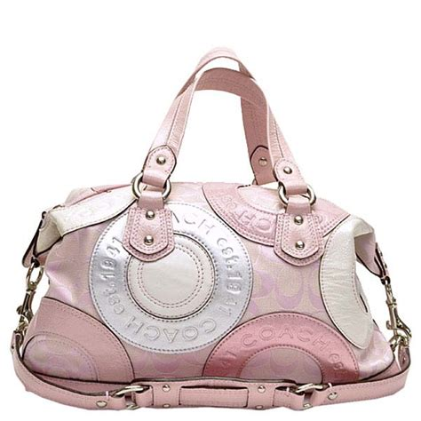 Pink Patchwork Coach Purse - coach f15474 pink pieced patchwork satchel purse