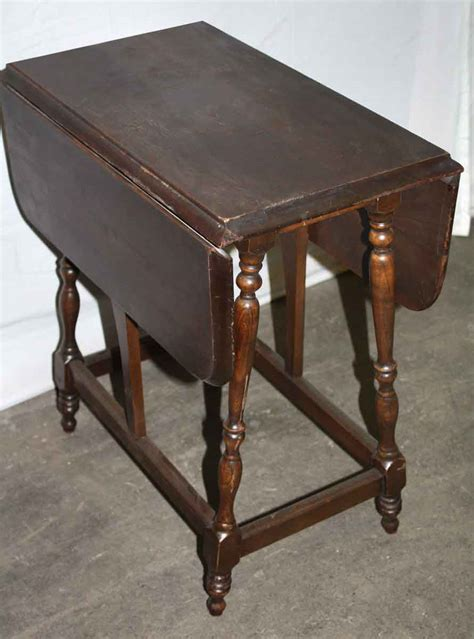 Small Drop Leaf Table Small Drop Leaf Side Table Olde Things