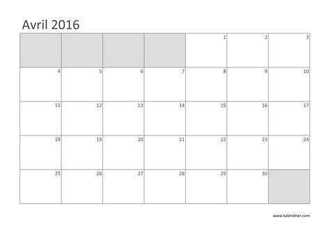 Calendrier Avril 2010 Imprimer Calendrier 2016 Gratuitement Pdf Xls Et Jpg