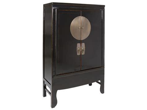 armario negro armario oriental negro de madera de olmo con tiradores de