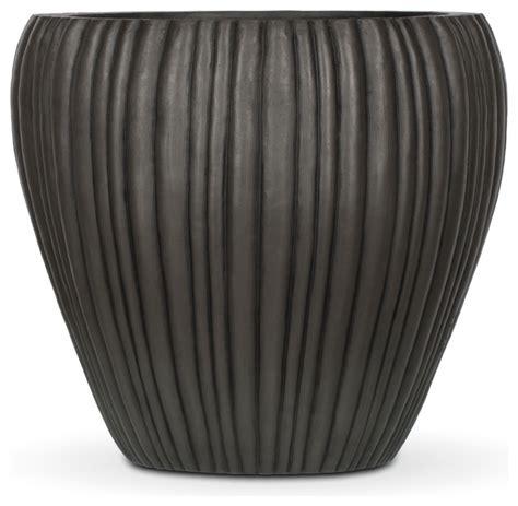 authenteak lightweight fiberglass planters modern