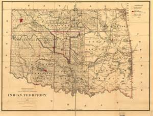 vintage oklahoma map doug dawgz maps and history of oklahoma county 1830