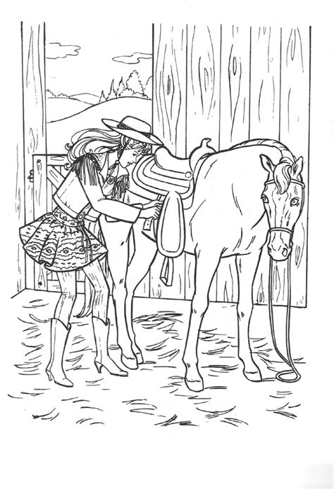 coloring pages barbie horse barbie and horse coloring pages