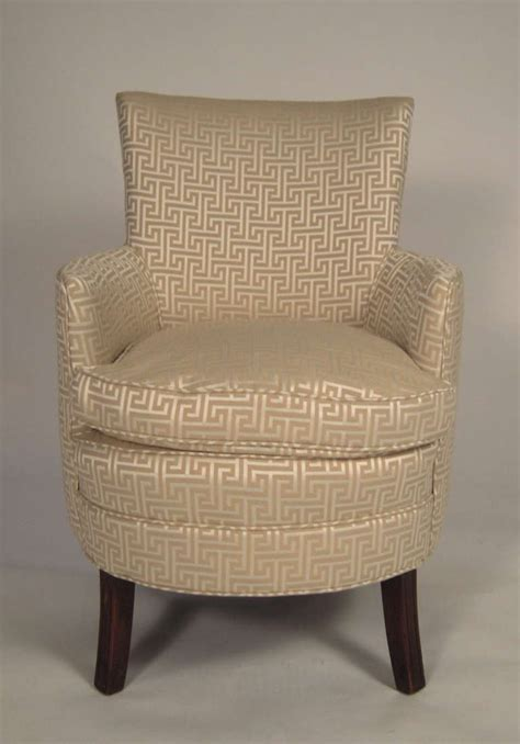 small upholstered armchairs stylish small curved upholstered slipper chair at 1stdibs