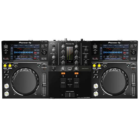 pioneer decks and mixer pioneeer djm 250mk2 2 channel mixer w pioneer xdj 700
