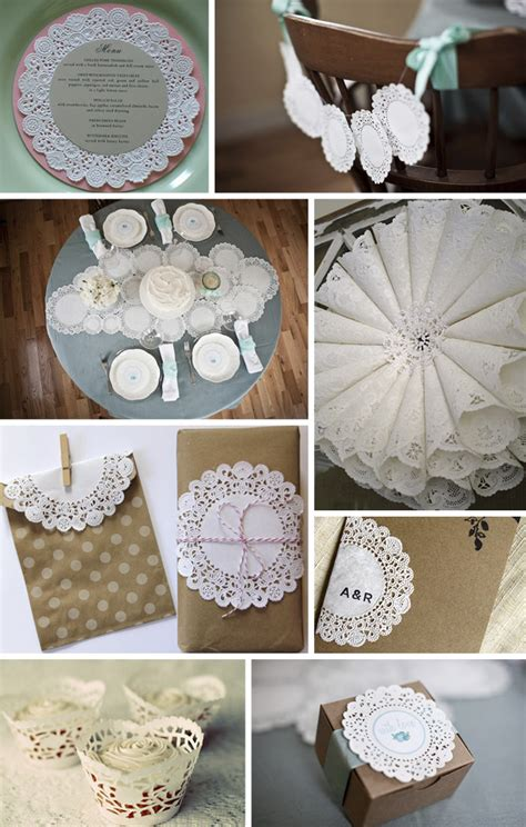 Paper Craft Ideas For Weddings - paper doily wedding decorations