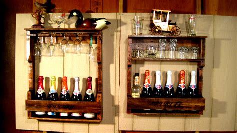 wall decor for home bar wood wine liquor home mini bar pallet rack shelf