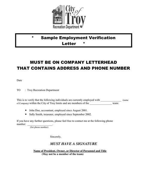 Official Letterhead Document With Employment Confirmation Employment Verification Letter In Word And Pdf Formats