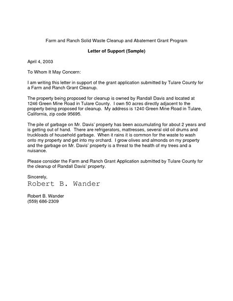 Sle Letter Of Support For Tenure Support Letter Sle Support Letter Template 28 Images 6 Financial Letter Support Letter