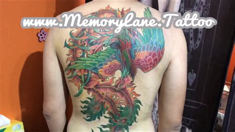 tattoo lessons singapore full colour full back phoenix tattoo by singapore s best