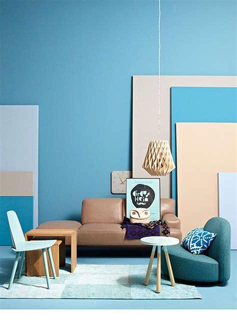 interior blue blue beige mint interior modern bauhaus cubism