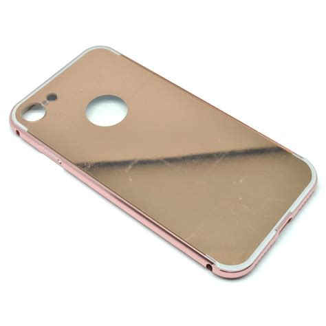 Aluminum Bumper With Mirror Back Cover For Iphone 6 Plus Silver aluminium bumper with mirror back cover for iphone 7 8