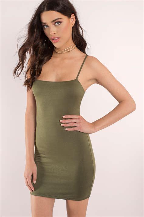 Minidres Dress olive bodycon dress dress green dress 54 00