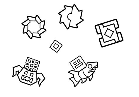 Geometry Dash Coloring Pages wave geometry dash coloring pages coloring pages